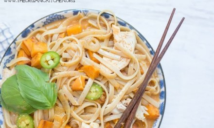 Chicken and Sweet Potato Asian Noodle Soup- Gluten free