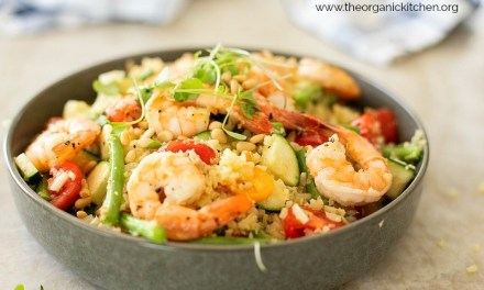 Lemony Shrimp and Vegetable Stir Fry Bowl