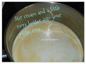 Stir in cream