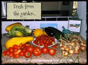 fresh from the garden