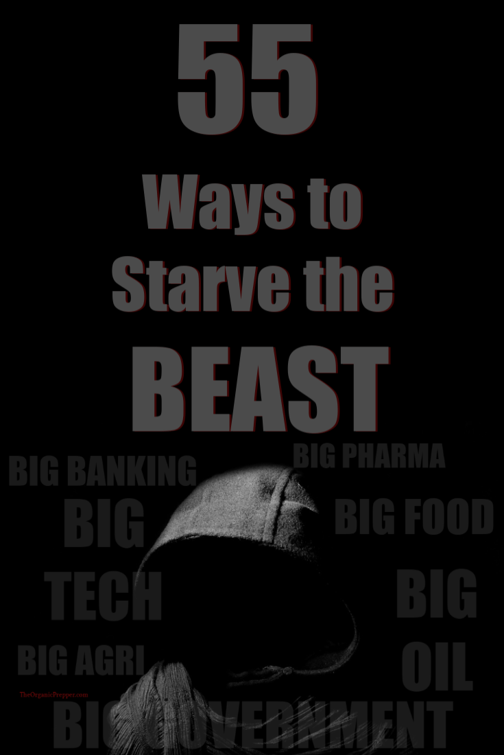 Big Agri, Big Pharma, Big Tech, Big Food, Big Banking, Big Oil, and Big Government form a Beast that seeks to control us. Here\'s how to fight back and starve the Beast. | The Organic Prepper