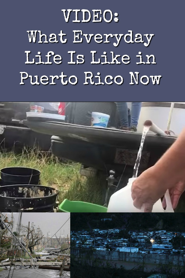 This video shows the reality of everyday life in Puerto Rico right now. Many people are without electricity or running water. Food is scarce. People with running water must boil it before consuming it. Much has been written about this, but video brings it to life.