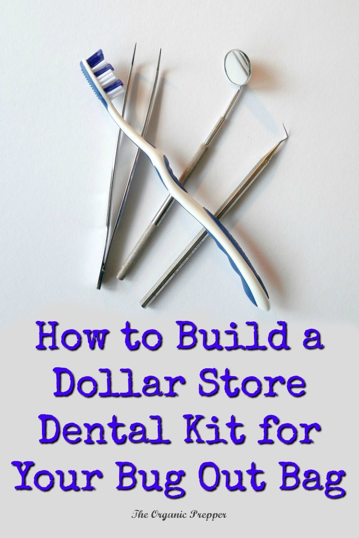 Can you imagine the misery of tooth pain while you\'re bugging out? Put together a simple dental kit for your bug out bag right from your local dollar store. | The Organic Prepper