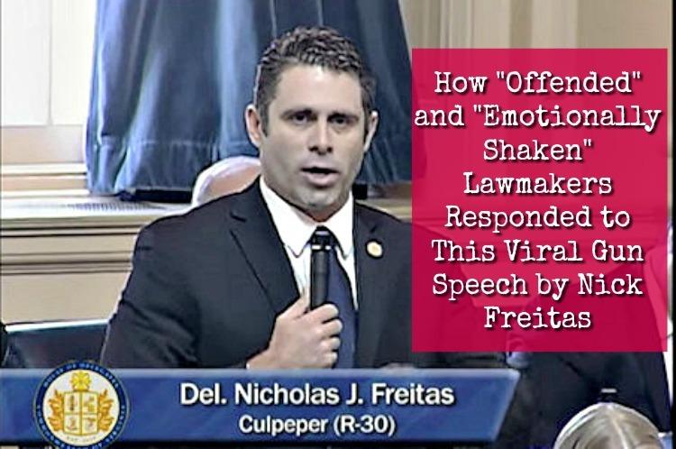 In Virginia Delegate Nick Freitas' viral speech about the gun debate, he said he