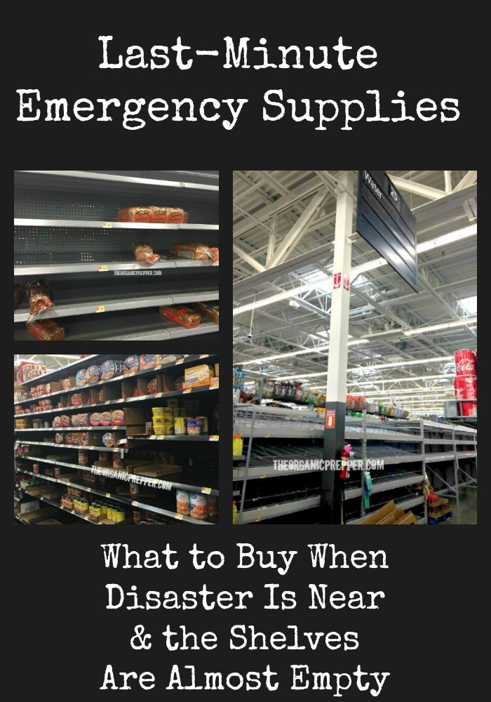 If you need to get some last-minute emergency supplies but your original choices are gone, here\'s what to buy when the shelves are almost empty.