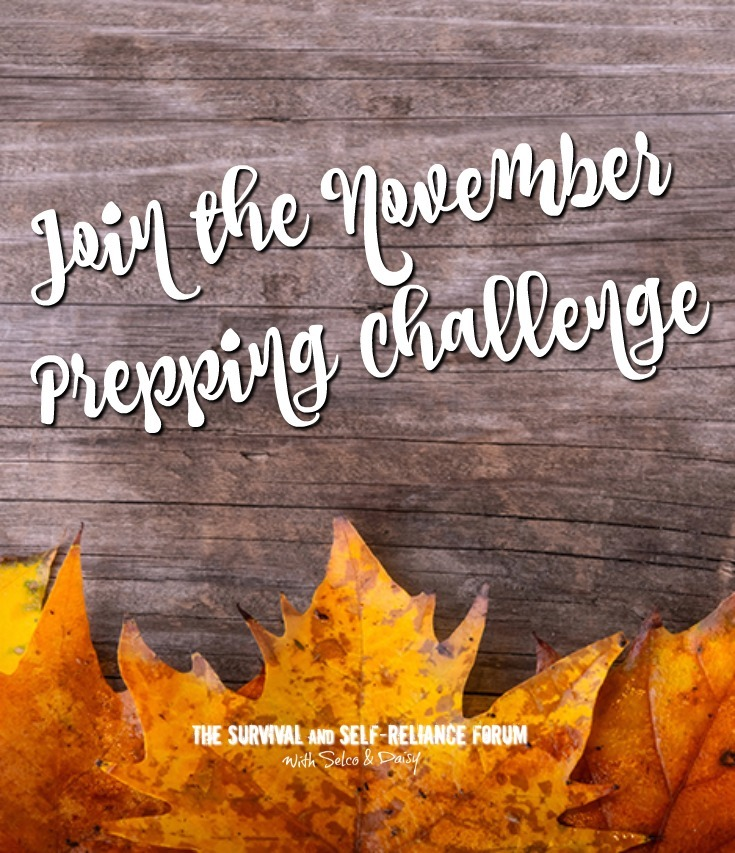 Join Selco and Daisy in the November Prep-Every-Day Challenge and make preparedness a daily habit! (PS: You can win a prize for completing the Challenge!)