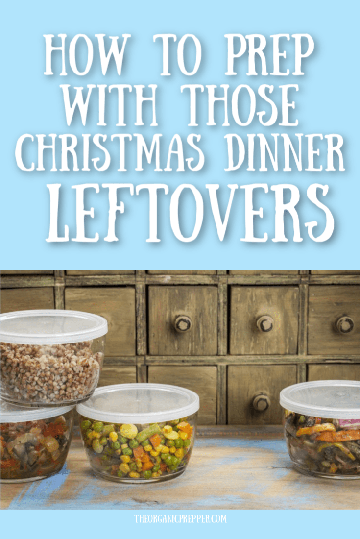 Is your fridge filled with all the leftovers from the big day? Here\'s how you can add those Christmas leftovers to your preps. | TheOrganicPrepper.com
