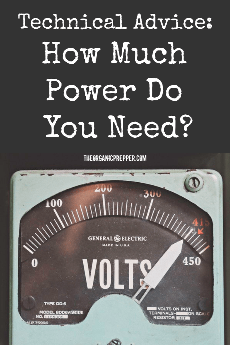 Jose explains how to figure out how much power you actually need to run your most important equipment and devices.