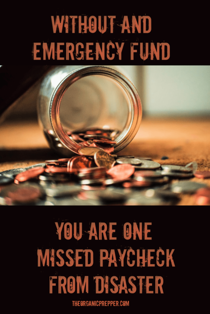 Only 40% of Americans are prepared for a financial rainy day. Do you have an emergency fund or are you only one missed paycheck from disaster? | The Organic Prepper