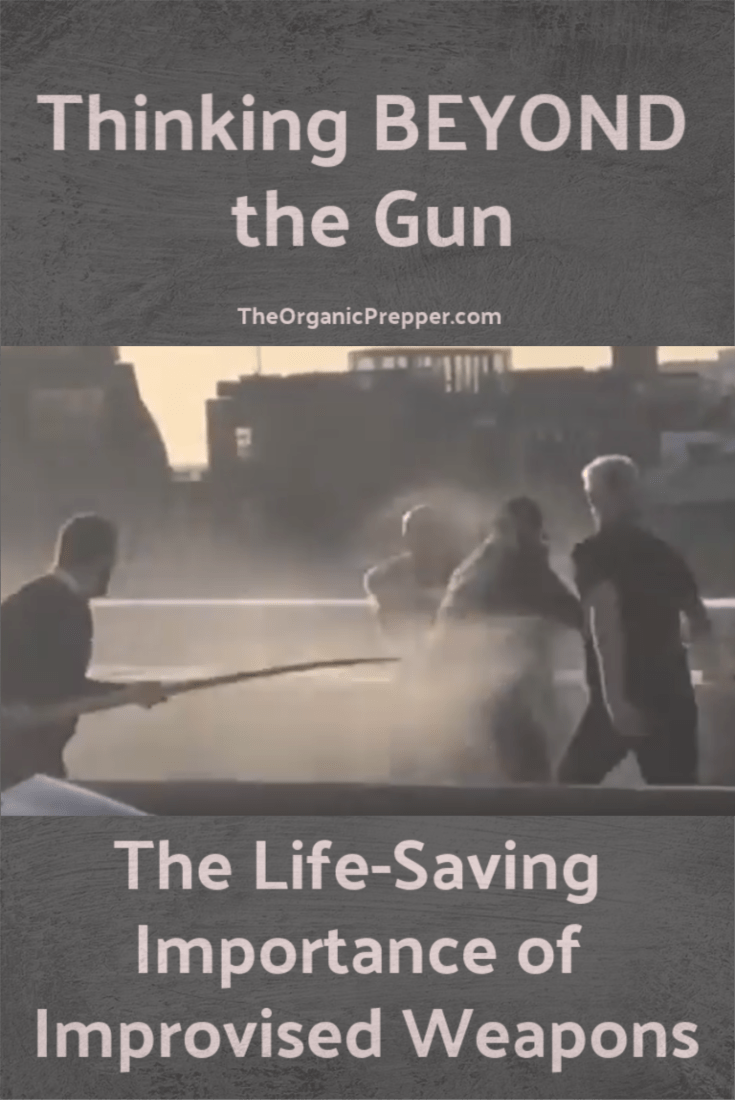 Civilians used improvised weapons like a Narwhal tusk and a fire extinguisher to take down a terrorist in London. Here\'s why we should consider thinking beyond the gun. | The Organic Prepper
