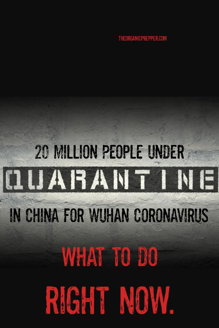 20 million people in China were quarantined overnight without warning. Here\'s what you need to do RIGHT NOW if you\'re feeling unprepared. | The Organic Prepper