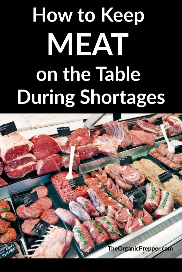 Meat shortages mean that grocery stores are rationing purchases and restaurants are reducing their offerings. Here\'s how to put meat on your table or get by with less of it. | The Organic Prepper #meat #shortages