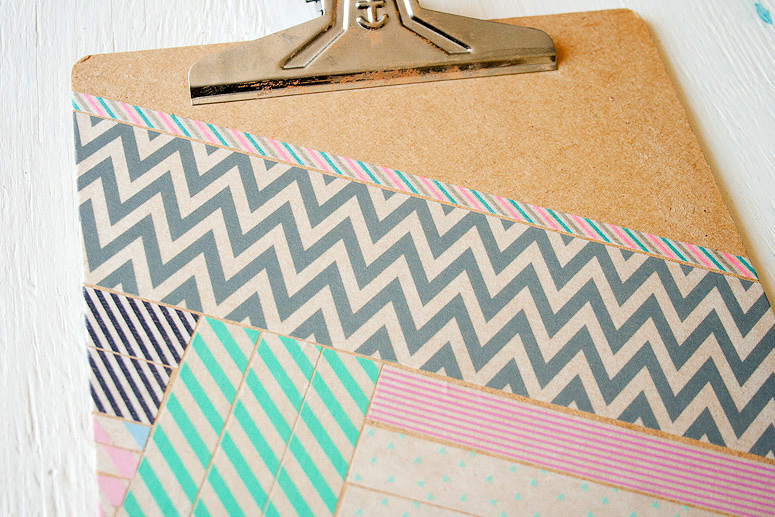 Invitation to Play | DIY Washi Tape Clipboard