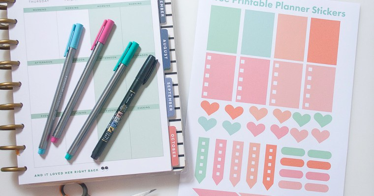Friday Freebie | Printable Planner & Scrapbook Stickers