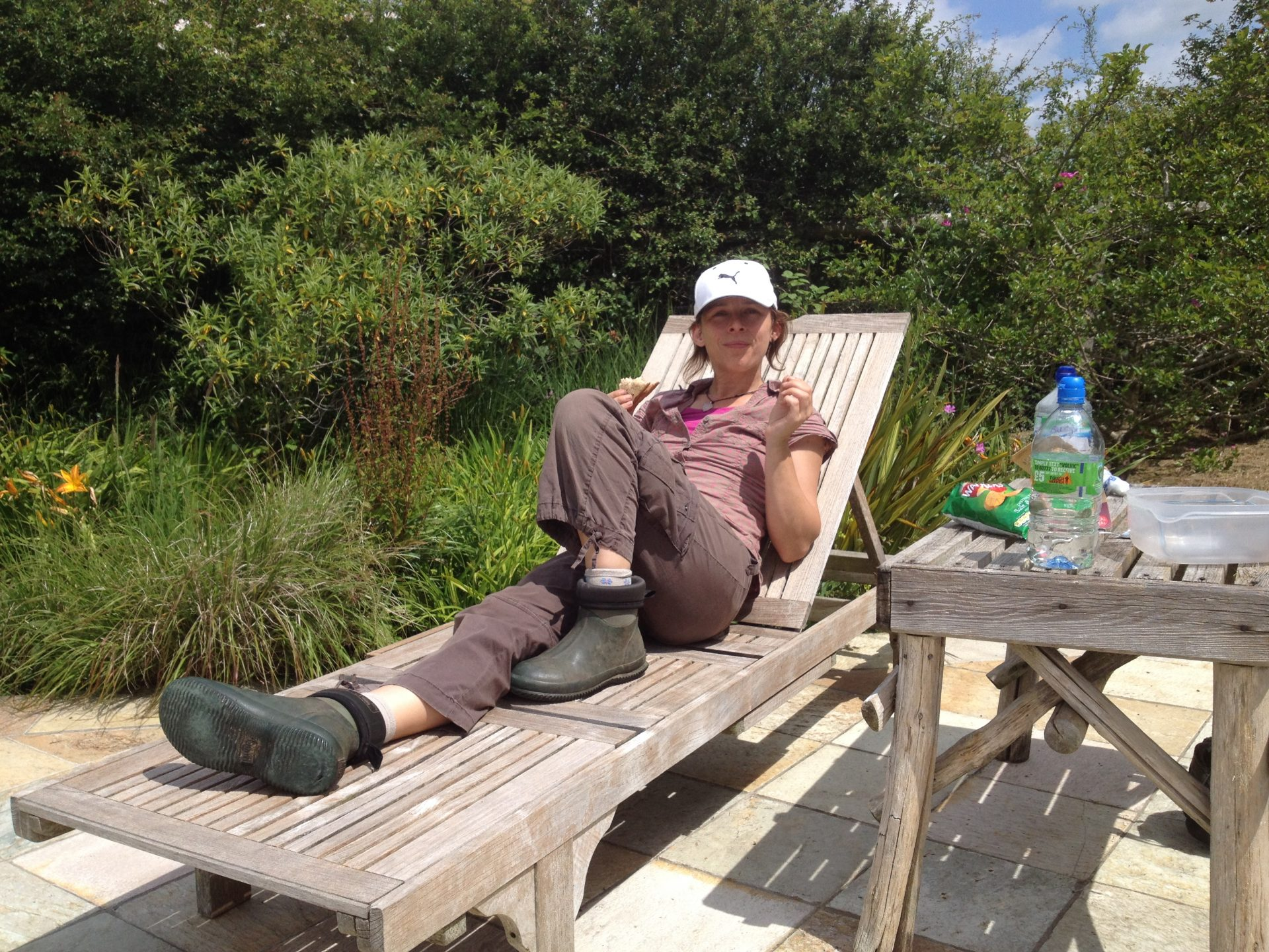 Of course all gardeners need to put their feet up from time to time...
