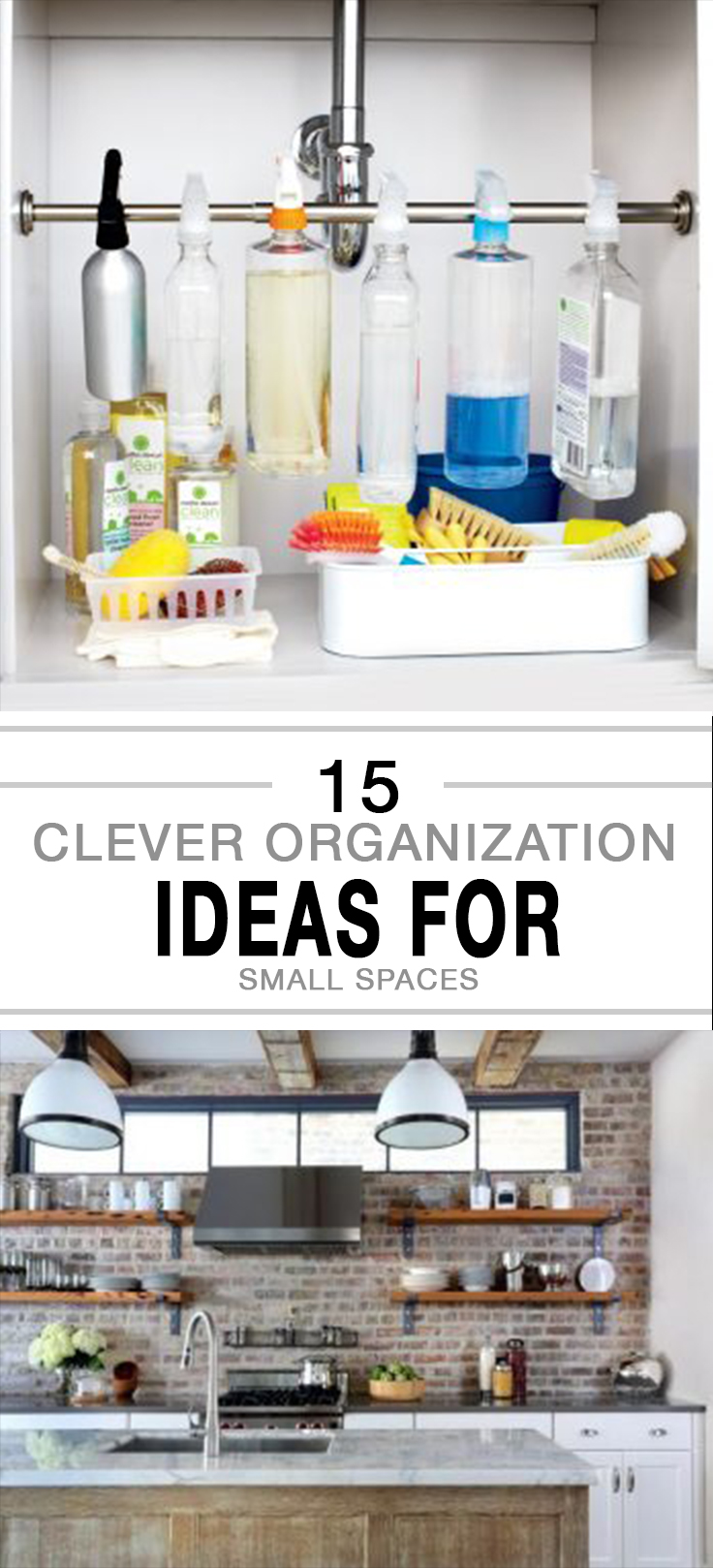15 Clever Organization Ideas for Small Spaces