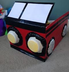 Turn An Old Box Into A Fire Truck