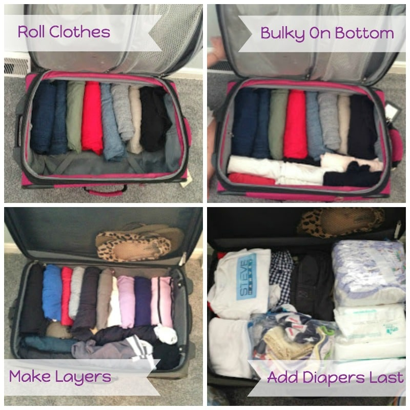 Packing Suitcase With Baby
