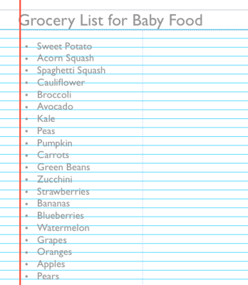 Organizing The Introduction Of Solid Foods For Baby