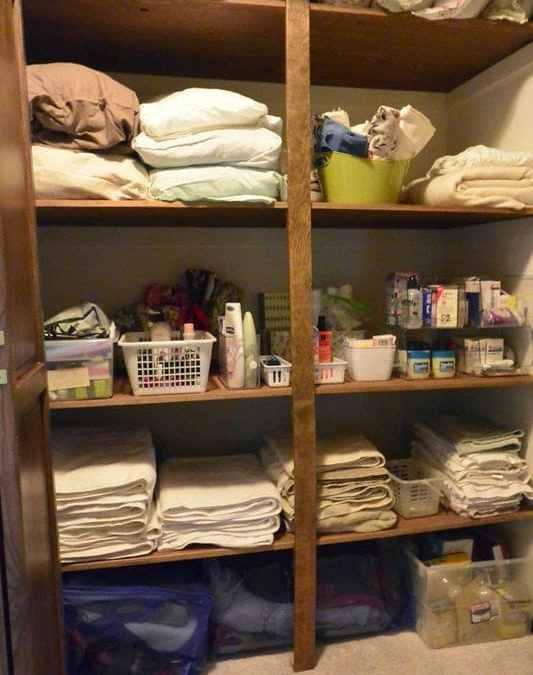 My Parent's Linen Closet…The Reveal
