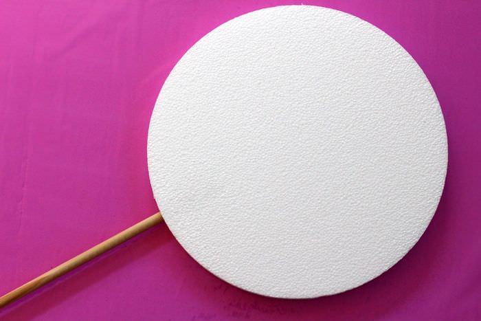 Creating Giant Lollipops Tutorial - Round Styrofoam and Dowel