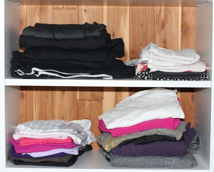 Spring Clean Up Challenge Week One - Shelving Clothes