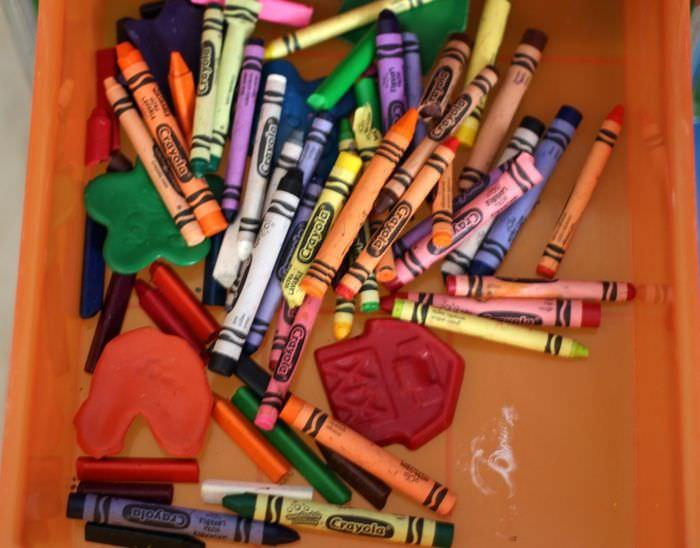 Creating An Art Area For Young Kids - Crayons