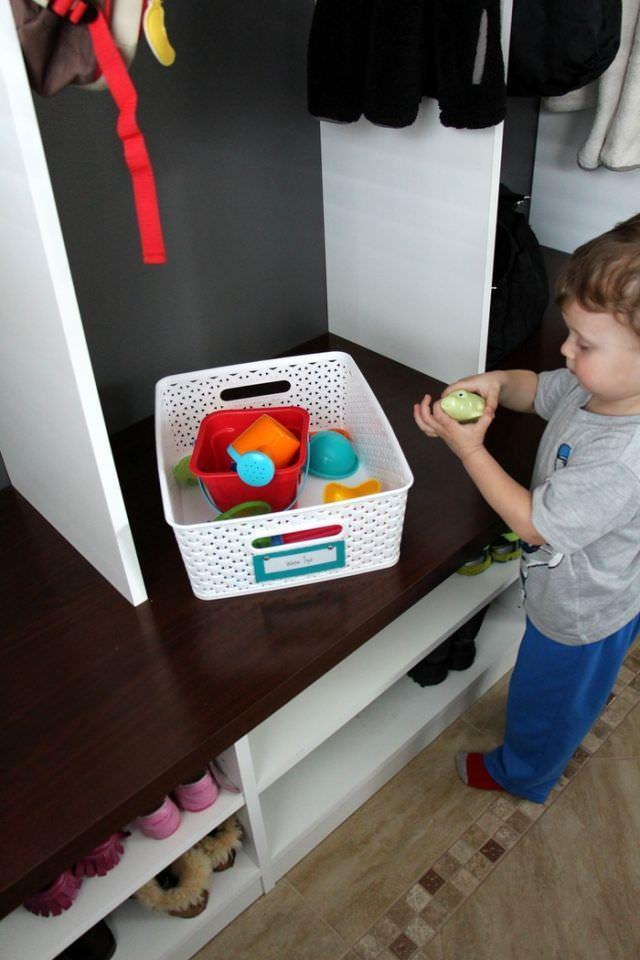 Getting The Mudroom Organized - Playing With Toys