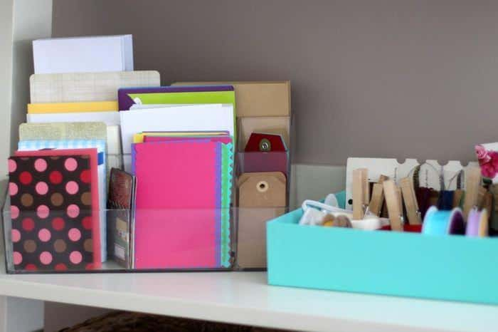 Organizing The Office And Craft Room - Stationary and Ribbon