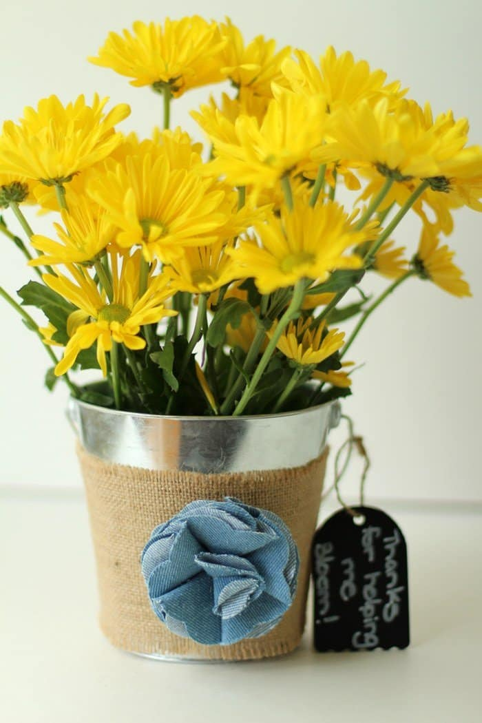 Bucket With Flowers