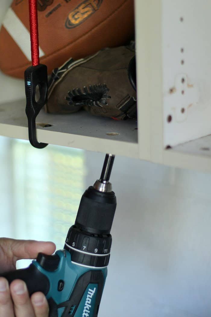 Drill Holes in Cabinet for ball storage