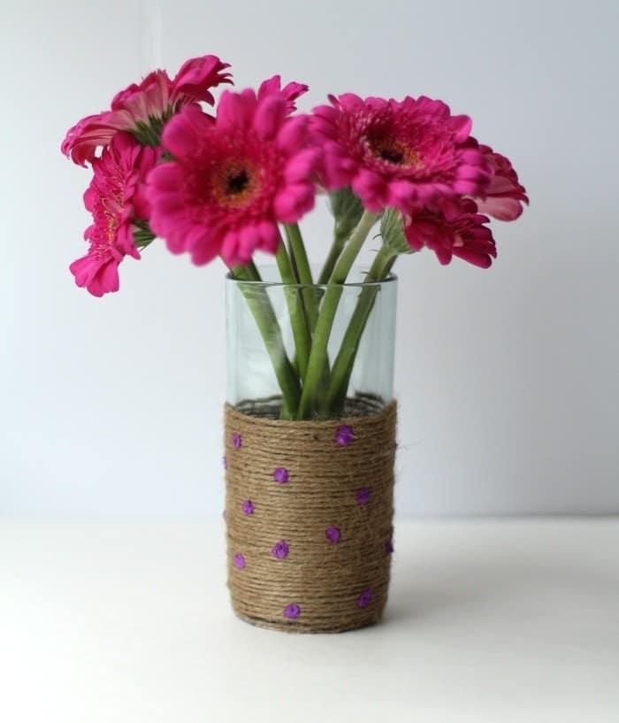 DIY Rope Vase Tutorial - Rope Vase With Flowers