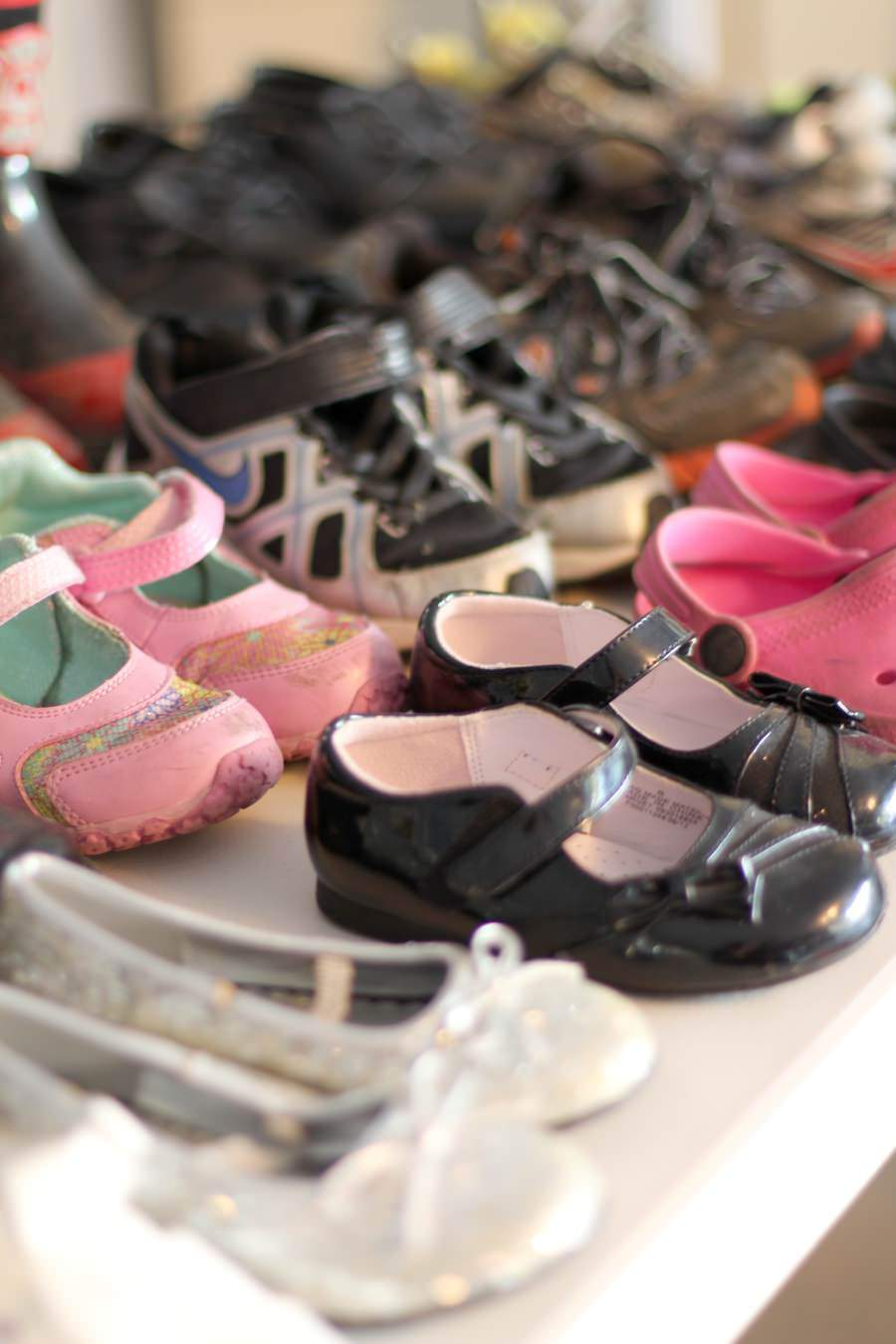 How To Organize For A Garage Sale - Shoes Garage Sale