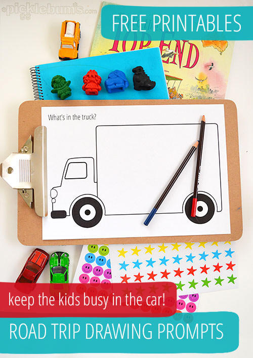 Reader Request: Traveling With A Toddler On Road Trips - Drawing Prompts