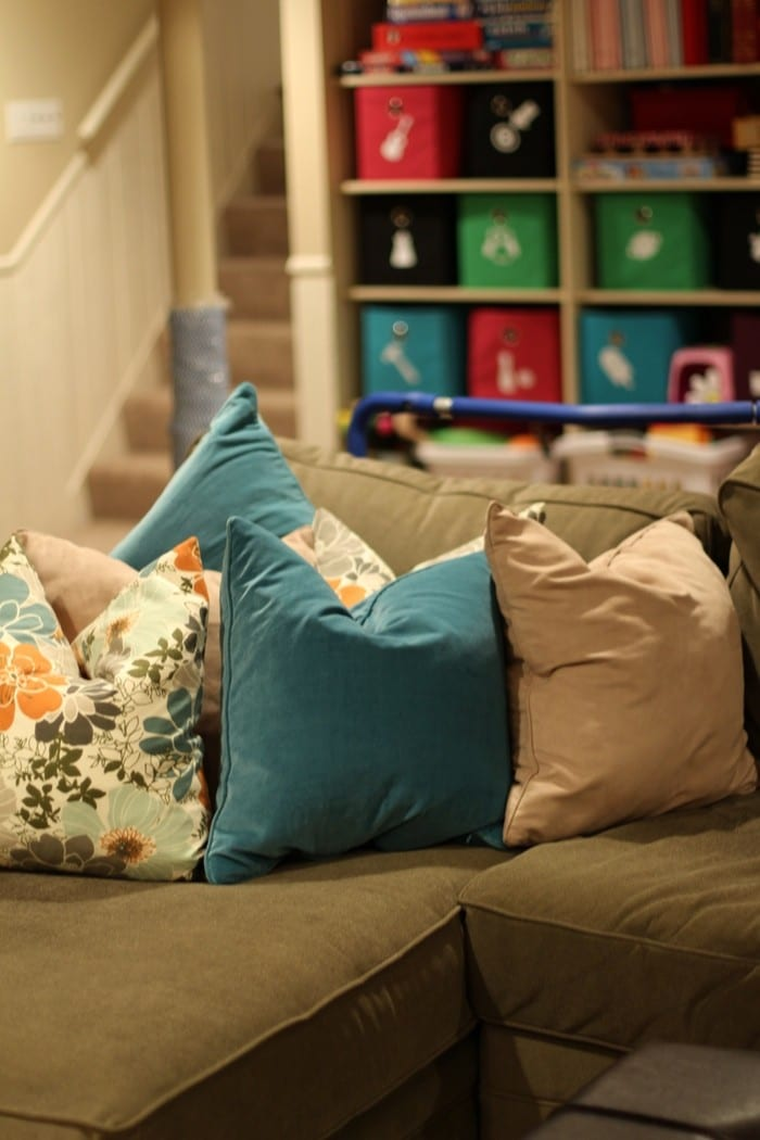 How To Organize Your Basement - Couch Basement