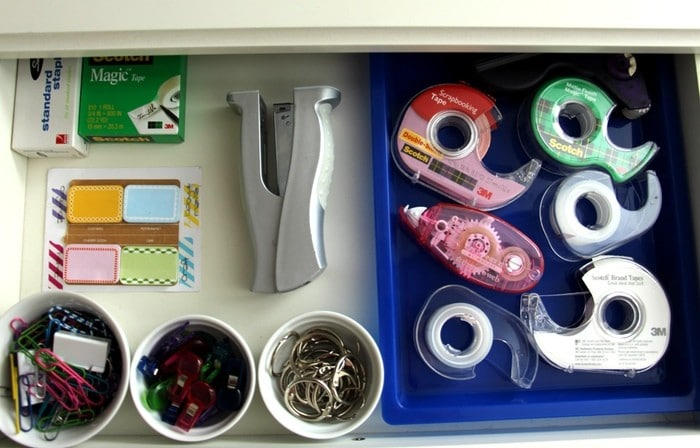 Helpful Office Organization Tips - Desk Drawer