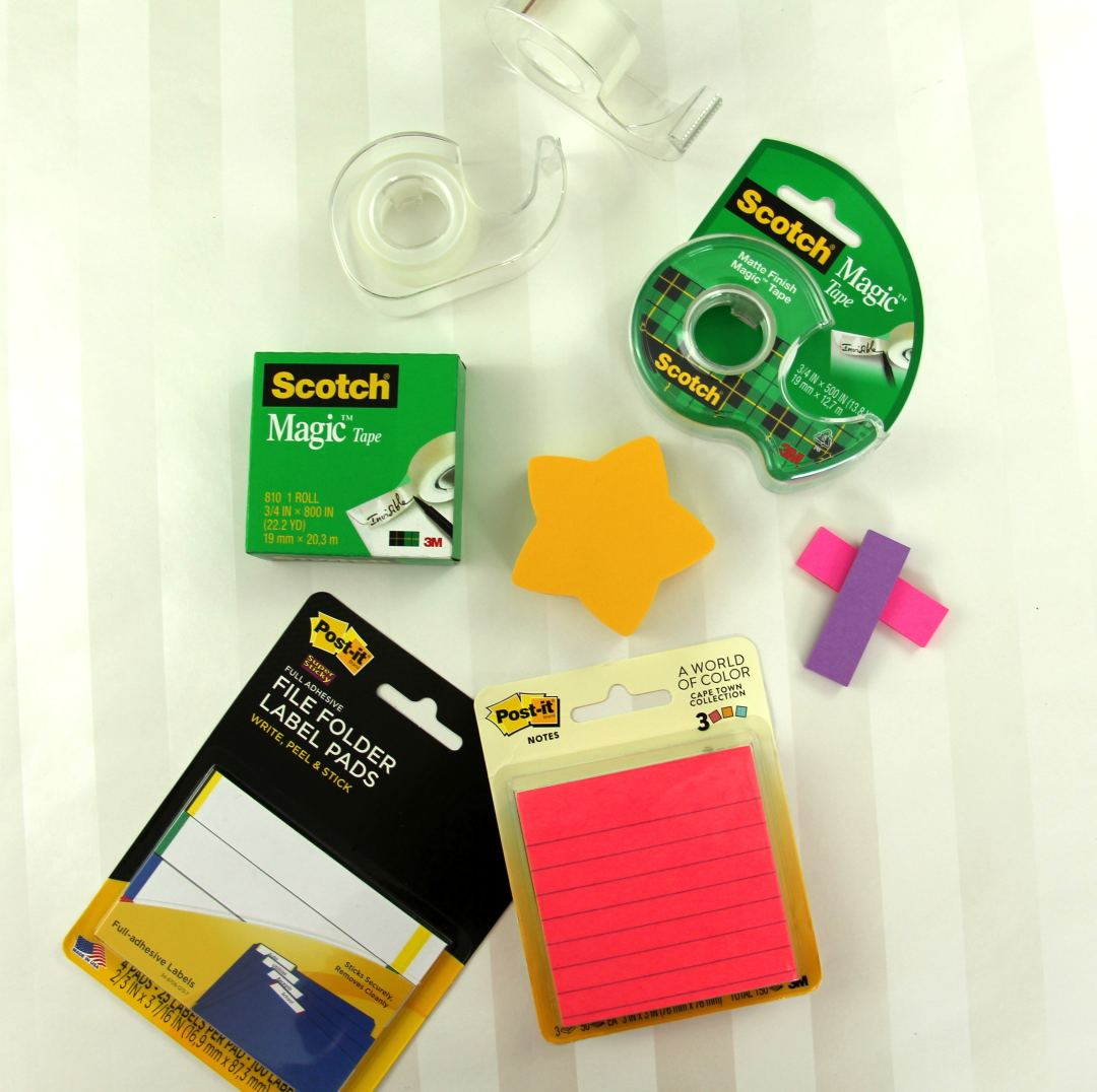 How To Label Supplies And Other Organizing Tidbits - Hero Image Scotch Tape