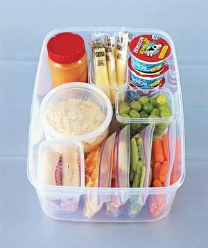 Organizing the Kitchen and Lunch Prep Ideas - Snack Container