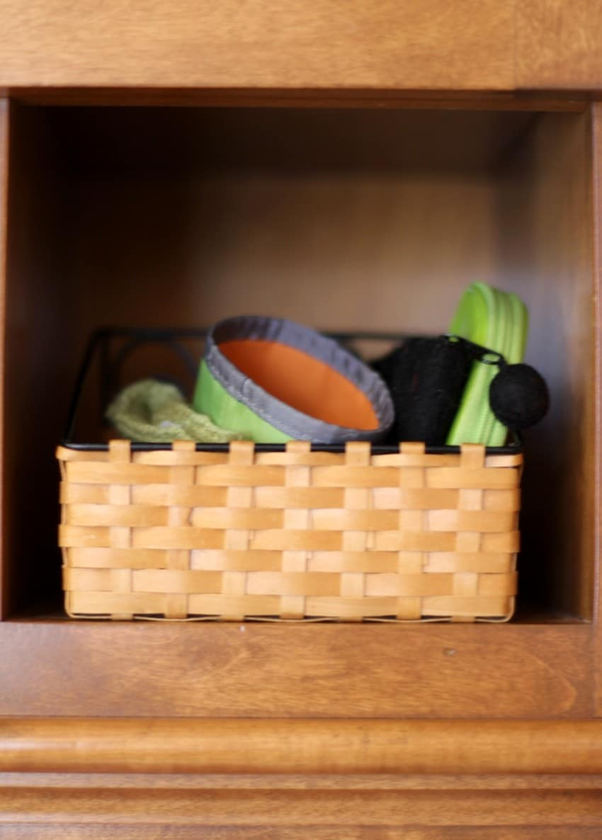 Organizing Mail Cubbies - Cup Holder