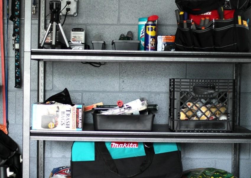 Organizing the Garage - Shelving Unit