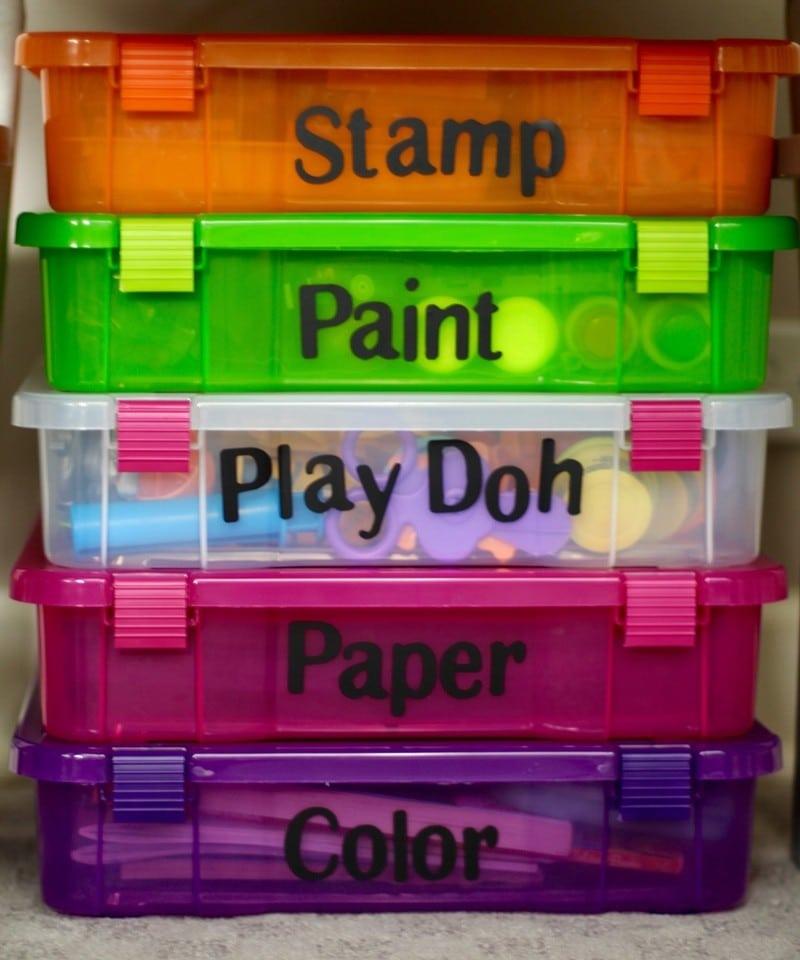 Kids Art Room Ideas - Under Table Storage