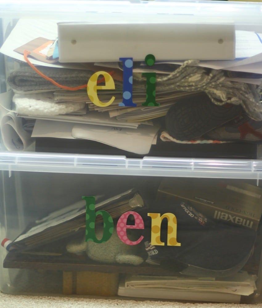 How To Organize A Storage Closet - Famiy Bins