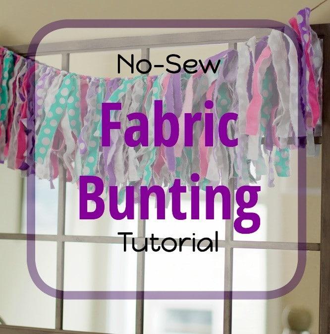 No Sew Fabric Bunting
