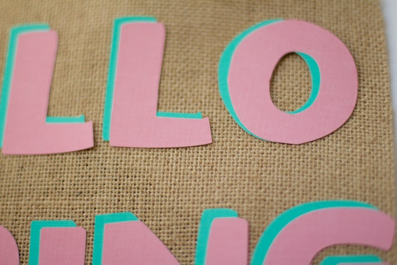 Adding Letters To Burlap