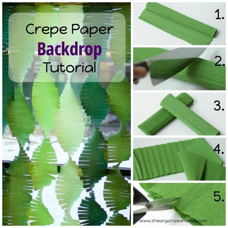 Crepe Paper Backdrop Tutorial