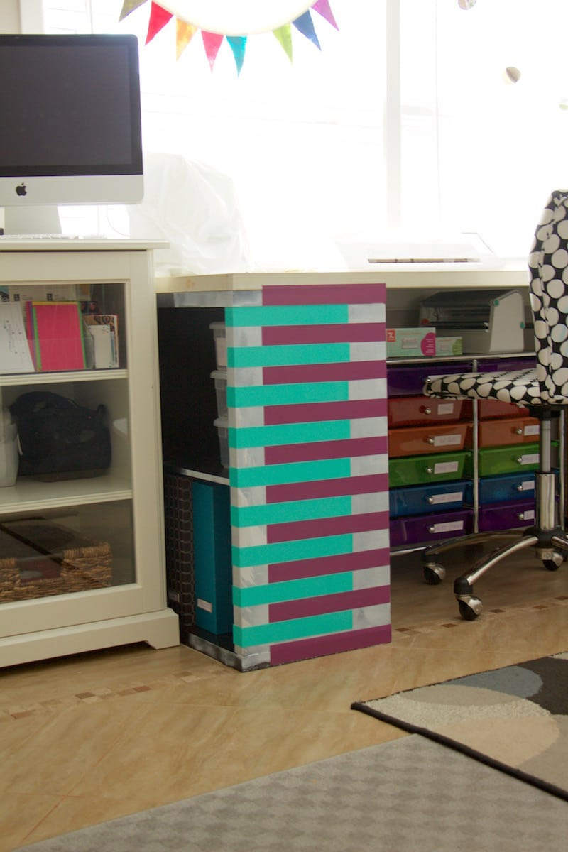 Purple and Teal Desk
