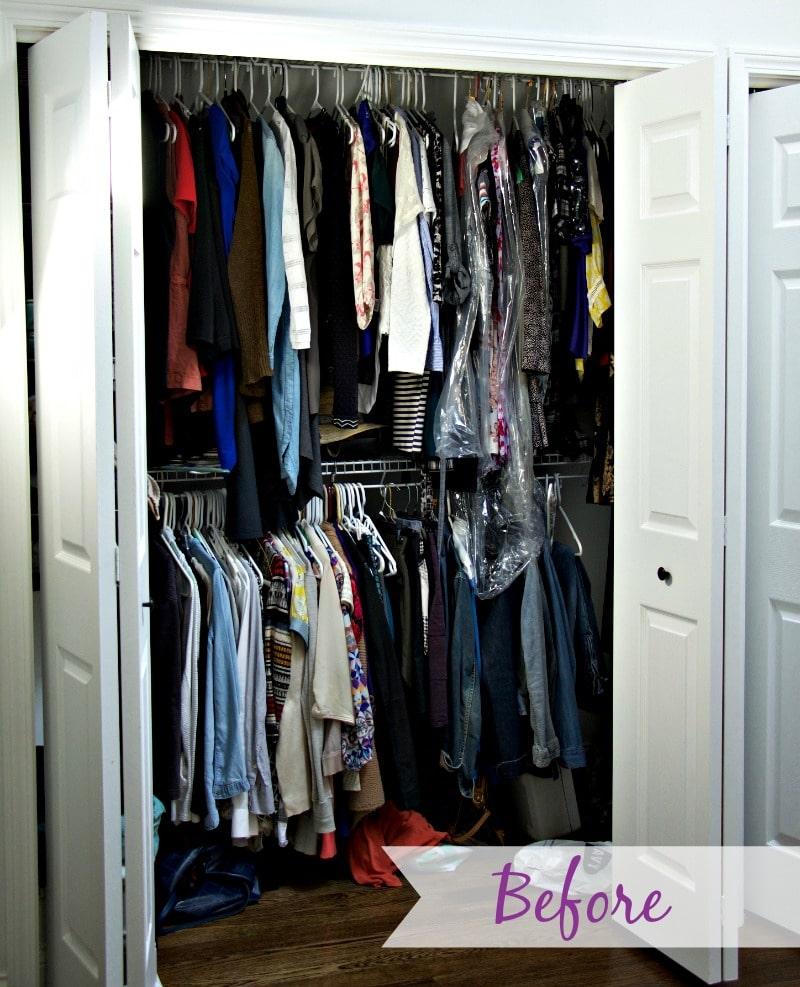 Before Closet Organization