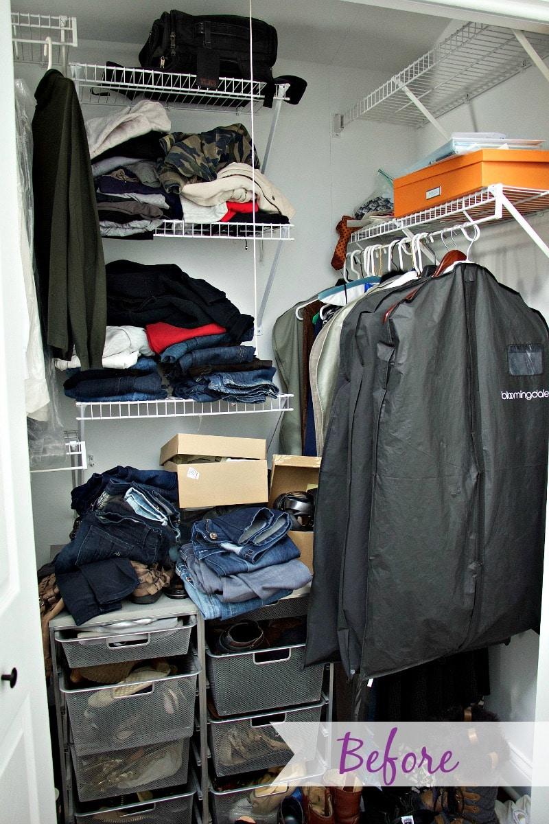 Closet Organization Before 2