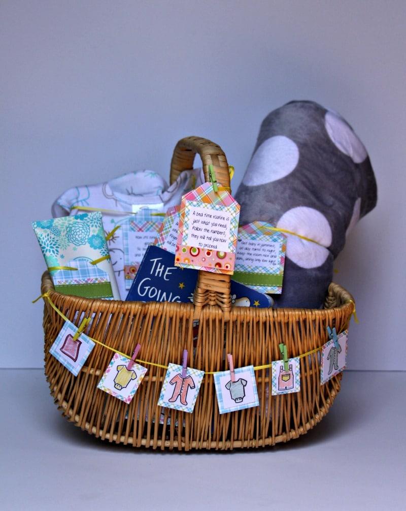 Baby Shower Gift Basket Tutorial