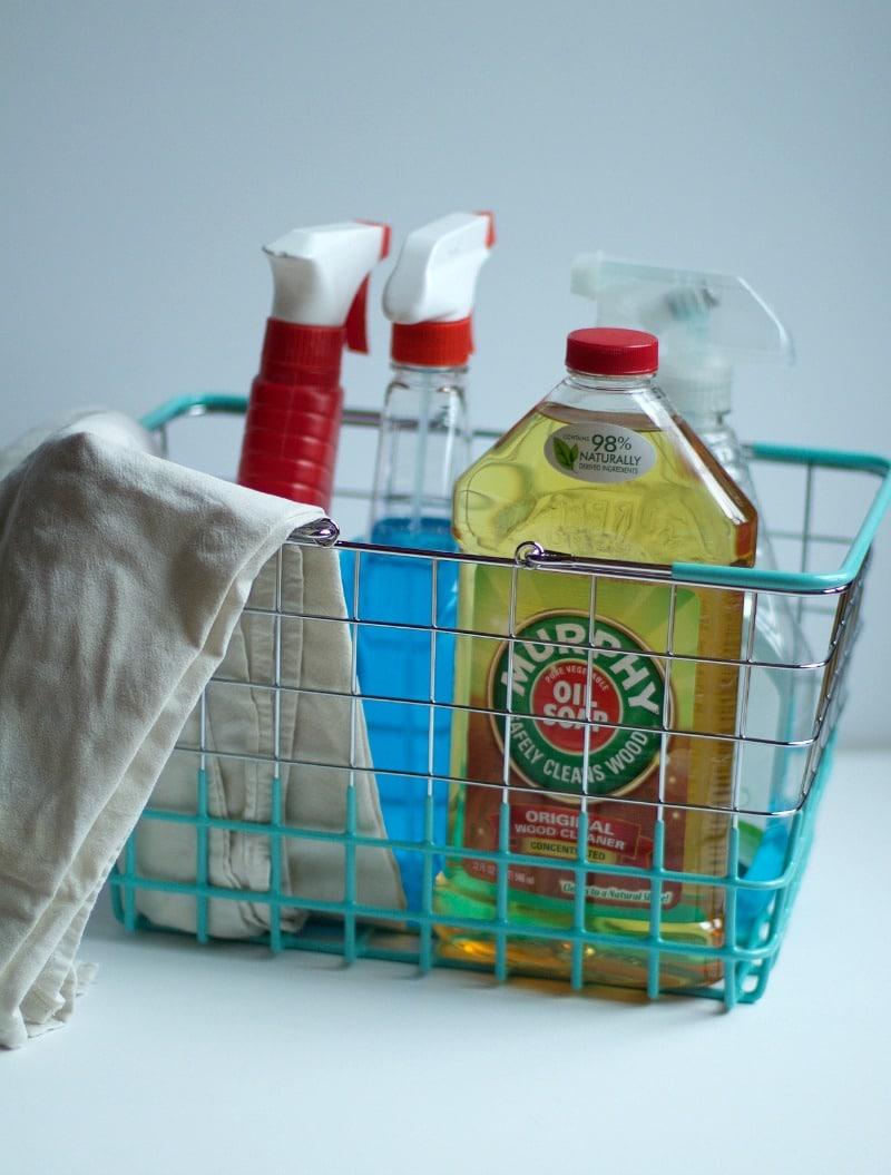 create a cleaning caddie